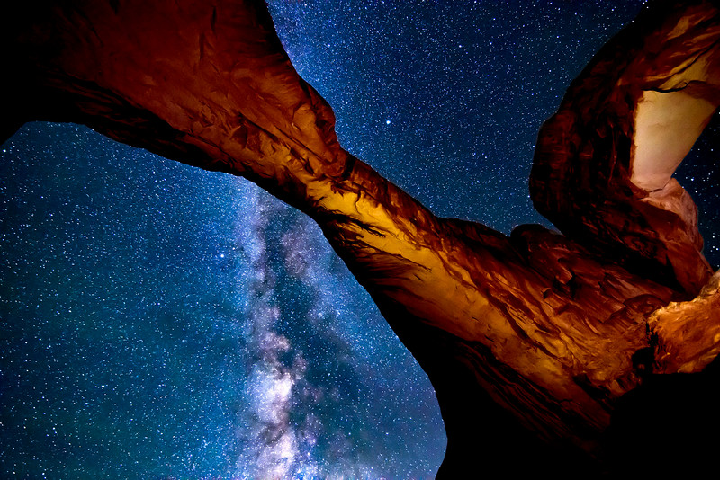 Double Arch and Milky Way