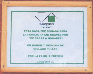 09 -03-20 Plaque placed on Chavez completed house. JT
