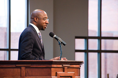 The Rev. Dr. Raphael G. Warnock of Ebenezer gives welcome. sh