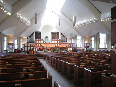 Ebenezer Baptist Church (interior view from back). lcf