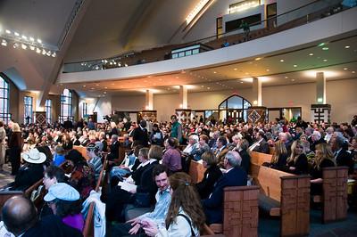 March 14, 2009 - People gather for Millard fuller Memorial Celebration in Ebenezer Church, Atlanta. sh