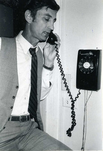 1982 - Millard talking on the telephone to a law client. lcf
