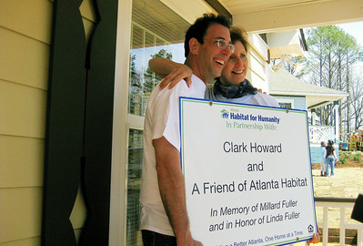 09 -3-21 Clark Howard and Linda Fuller celebrate house built in her honor and Millard's memory.