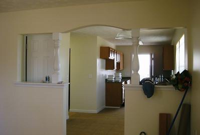 Interior of Gibbens new house.