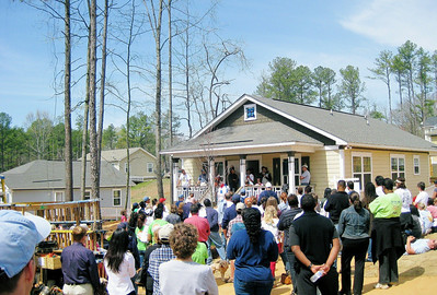 Keysha Gibbens house dedication.