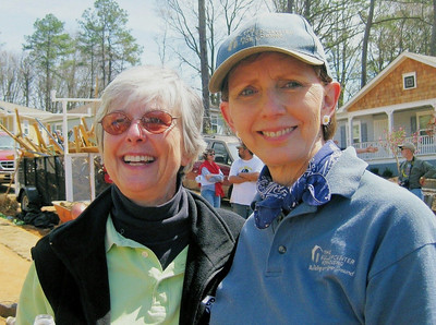 Larrie Del Martin, Executive Director of Atlanta Habitat for Humanity and Linda Fuller, Co-Founder of Fuller Center for Housing.