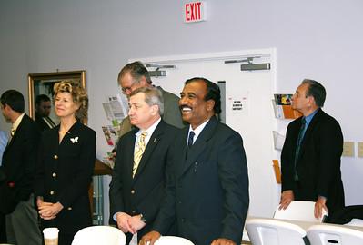 Diana Negroponte of Washington, DC (former HFHI board member); John Schaub of Sarasota, FL is standing tall in background (former HFHI board member and currently member of FCH board; Jim McLean of Nashville, TN (FCH board member) to the far right.