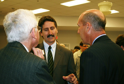 L-R: Tom Jones of Washington, DC, Chris Fuller and David Williams (former COO of HFHI).