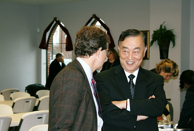 Paul DiGiammarnio meets and talks with Dr. KunMo Chung of South Korea.