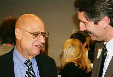 Chris Fuller visits with Tony Campolo (keynote speaker for Memorial Celebration. jg