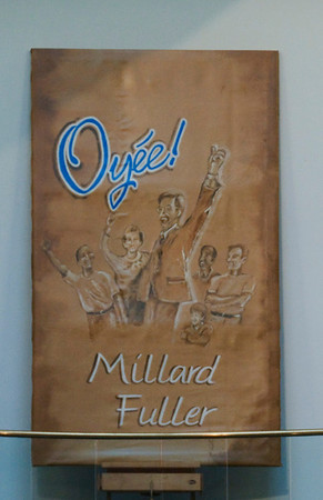 """Oyee, Millad Fuller"" canvas painted by Jo Knox of Koinonia Farm. sh"