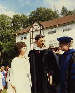 1985 - Millard receives honorary doctorate from Eastern College, St. Davids, PA
