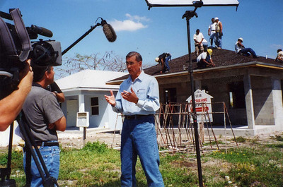01 Miami, FL - Millard Fuller being interviewed by Miami TV