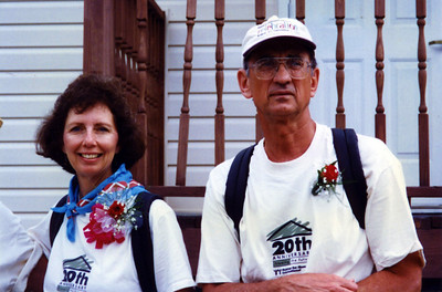 1996 08-30 Linda and Millard celebrate their 37th wedding anniversary in Jonesboro, GA during HFHI's 20th Anniversary Walk to Atlanta.