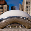 Cloud Gate at Millennium Park in Winter