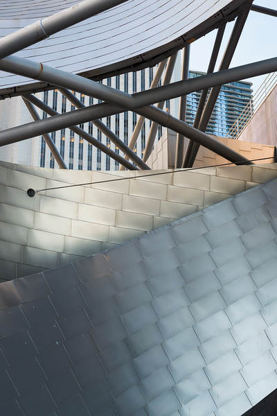 Detail of Pritzker Pavilion steel architecture