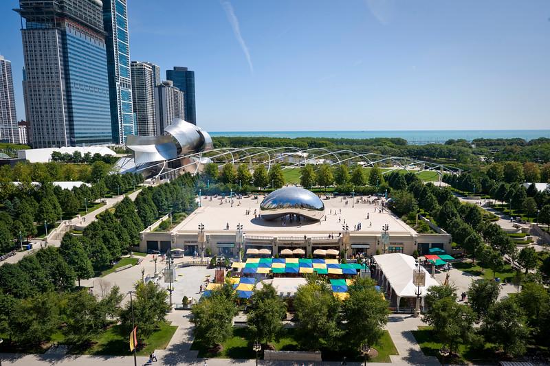 Aerial of Millennium Park