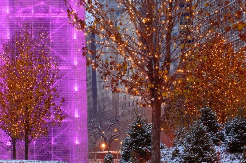Crown Fountain in Winter