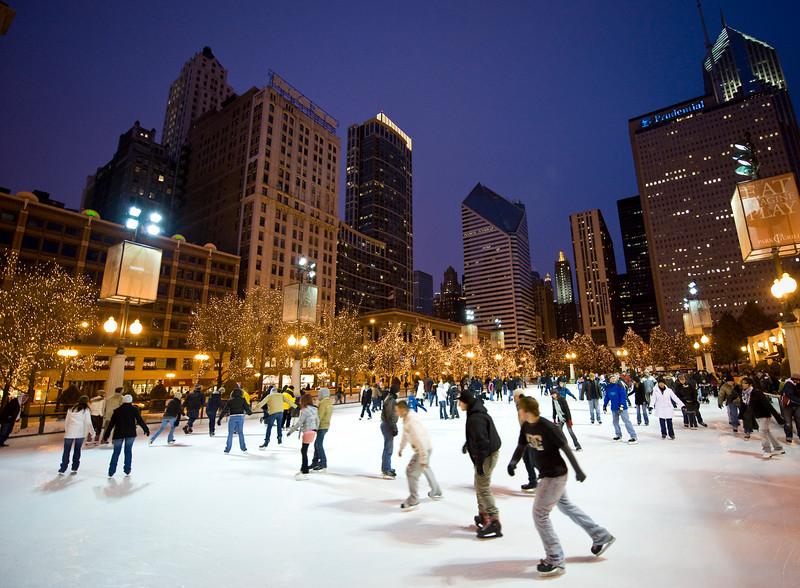 Skating at Millennium Park