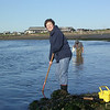 Henry's wife Kay having fun clamming.