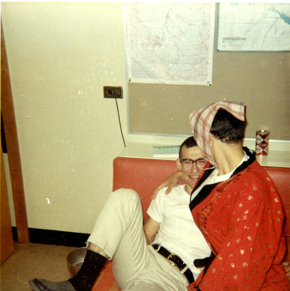 William A. Shaffer and David Albright, dressed as a girl.