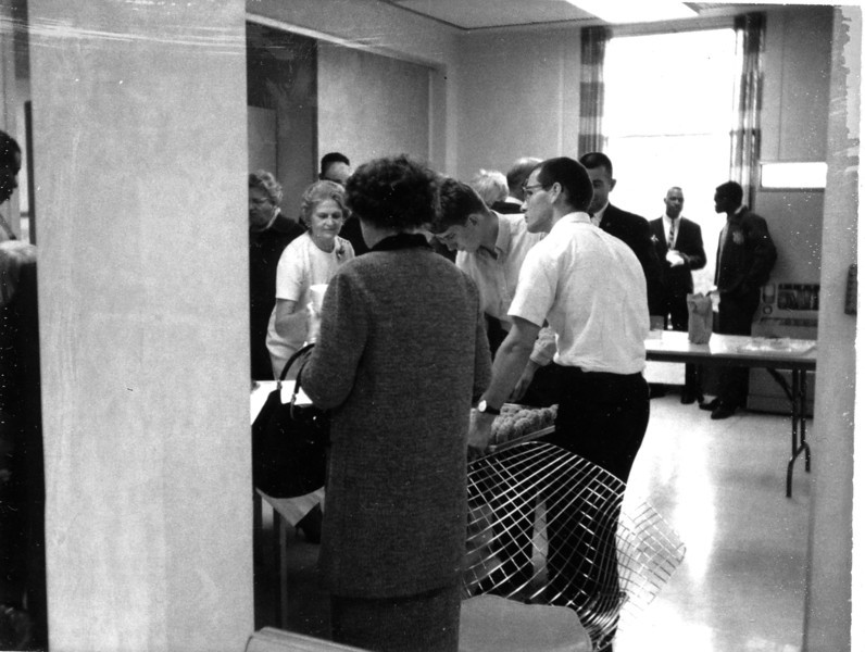 Parents Day 1967 Social in Mills Hall Lounge.