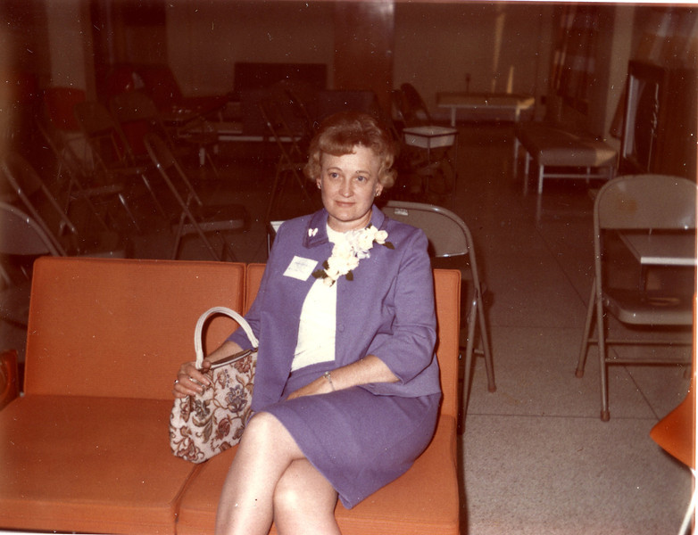 Millie C. Shaffer in the Lounge of Mills Hall.