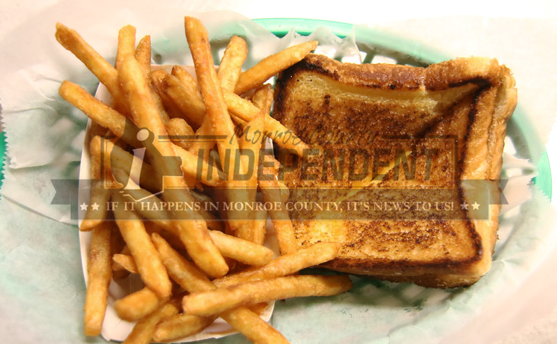 For the kids who are not fish lovers they can get a grilled cheese sandwhich and french fries at the Millstadt VFW Post 7980.