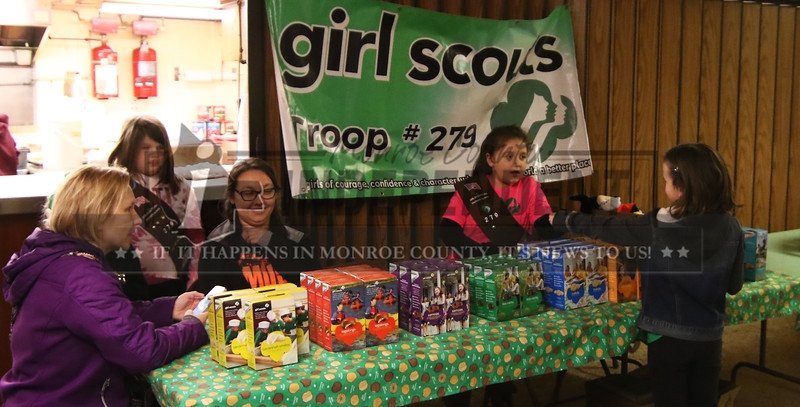 The Millstadt Girl Scouts Troop 279 sold cookies at the VFW Post 7980 in Millstadt .