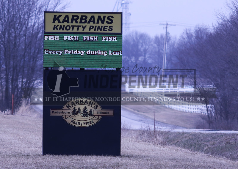 Karbans Knotty Pines in Paderborn is open for Lent fish fry on Fridays.