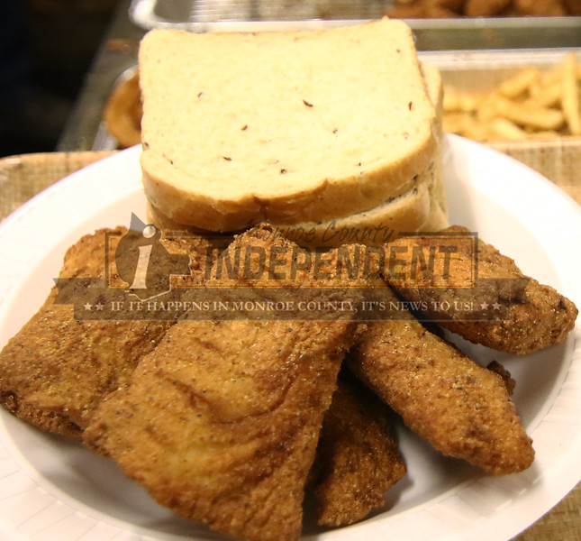 All the fish at the Millstadt Sportsman Club is weighed after it is fried to give you the maximun amount of fish.