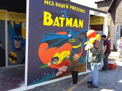 Taking in the Batman art