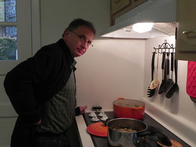 Grandpop makes soup