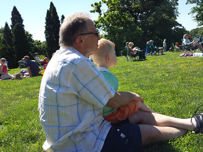 listening to the band concert with Grandpop on Fathers' Day