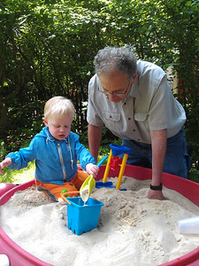 making sand castles with Granpop