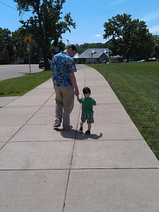 a Fathers' Day walk with Daddy
