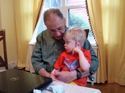 bending an ear with Grandpop