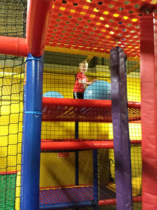 in the play yard at the mall