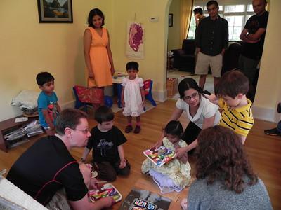 Gathering around the cake