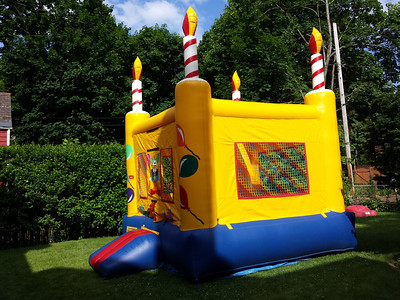The bouncy house is ready