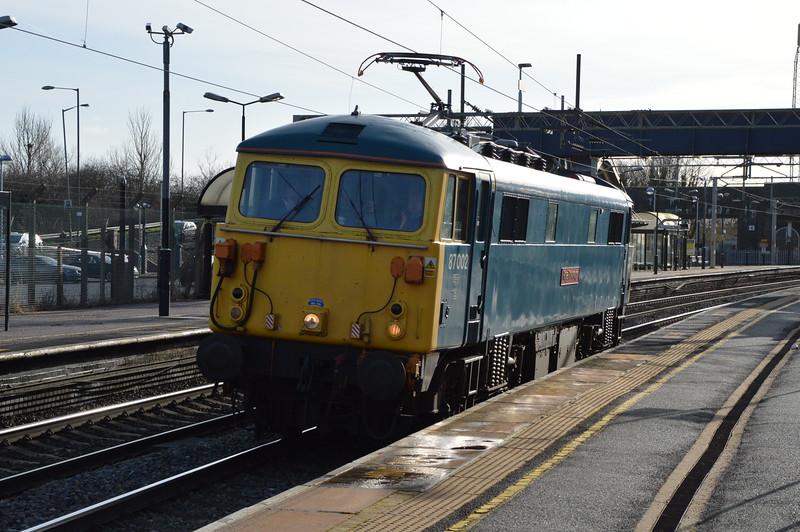 87002 0Z87 Willesden - Mossend, Wolverton 24/1/15
