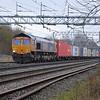 66708 heads 4M23 Felixstowe - Hams Hall past Bradwell, MK on 18th Jan 2014
