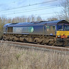 66304 passes Bradwell, MK on 2nd February on 4L48 Daventry - Purfleet