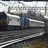 92044 leads 6X50 Dollands Moor - Trafford Park with new TPE units 350406 amd 350407 in tow past Bradwell, MK on 1st Feb 2014