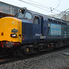 37610 heads 1Z60 Crewe - London Blackfrias leg of Pathfinders Buffer Puffer at Milton Keynes on 18th Jan 2014