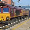 66007 heads 1Z30 Crewe - London Gateway Pathfinder trip through Wolverton on 29th March 2014