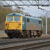 87002 on 0Z87 Willesden TMD - Warrington passes Bradwell,MK on 18th Jan 2014