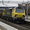 70004 thrashes through Wolverton on 6Y61 Watford Junction - Bescot ballast boxes on 17th March 2013