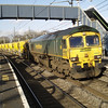 66603 passes Wolverton in the winter sun on 6Y60 HOBC to Willesden ET on 27th Jan 2013