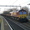66003 TNT 66151 on 7R07 Bescot - Ledburn Jn through Wolverton on 2nd March 2013